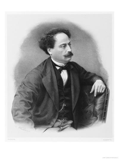 Alexandre Dumas Fils French Novelist-C. Fuhr-Giclee Print