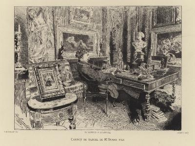 Alexandre Dumas the Younger in His Study--Giclee Print