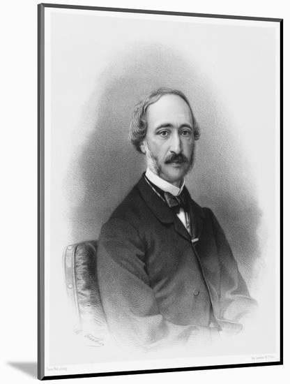 Alexandre-Edmond Becquerel French Physicist in 1865-C. Fuhr-Mounted Premium Giclee Print
