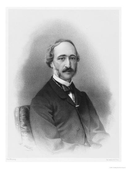 Alexandre-Edmond Becquerel French Physicist in 1865-C. Fuhr-Giclee Print