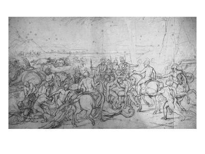 Alexandre et Porus ou La Défaite de Porus-Charles Le Brun-Giclee Print