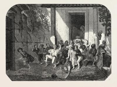 Salon of 1855. Leaving the Turkish School, Watercolor, 1855