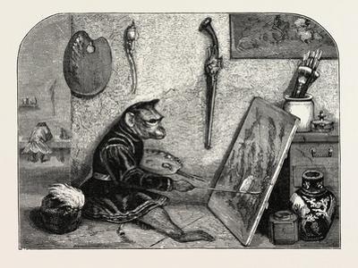 Salon of 1855. Monkey Painter, 1855
