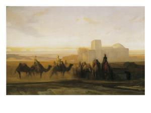 The Caravan by Alexandre Gabriel Decamps