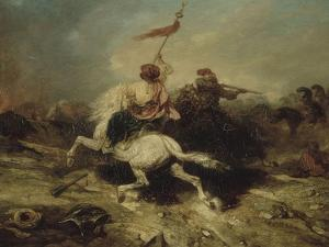 Turkish Horsemen, also known as the Flagship Turkish by Alexandre Gabriel Decamps