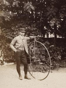 Edouard Eiffel, tenant un bicycle by Alexandre-Gustave Eiffel