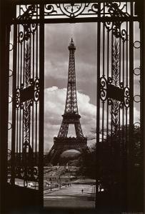 Eiffel Tower Through Gates by Alexandre-Gustave Eiffel