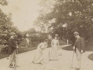 Quatre joueurs de croquet, à Sèvres by Alexandre-Gustave Eiffel