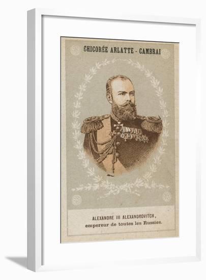 Alexandre III Alexandrovitch, Empereur De Toutes Les Russies--Framed Giclee Print