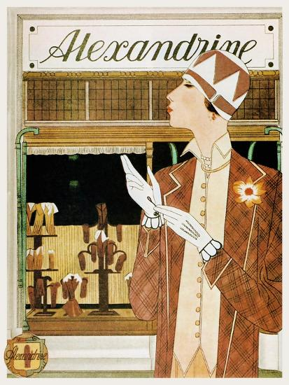 Alexandrine Gloves Accessories Paris 1925-Vintage Lavoie-Giclee Print