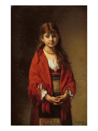 A Peasant Girl in a Red Shawl