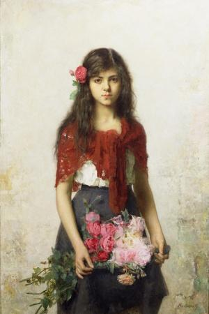 Young Girl with Blossoms
