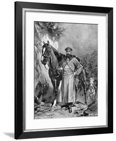 Alexei Nikolaievich Kuropatkin with His Horse, Russo-Japanese War, 1904-5--Framed Giclee Print