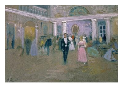 Ball at Larins, an Illustration For Eugene Onegin, by Alexander Pushkin
