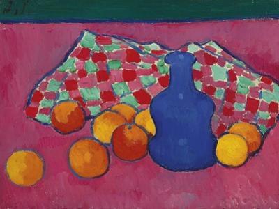 Blue Vase with Oranges, 1908 by Alexei von Javlensky