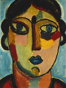 Blue Mouth; Blauer Mund, 1917 by Alexej Von Jawlensky