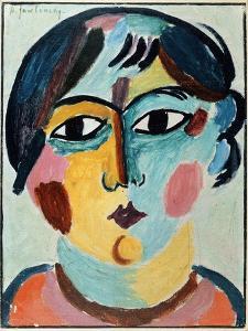 Girl's Head; Madchen Kopf by Alexej Von Jawlensky