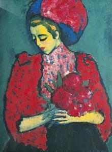 Girl with Peonies by Alexej Von Jawlensky