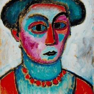Head of a Woman, c.1912 by Alexej Von Jawlensky