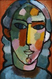 Head of Girl; Madchenkopf, C. 1915-16 by Alexej Von Jawlensky
