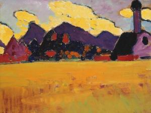 Landscape Near Murnau; Landschaft Bei Murnau, C.1910 by Alexej Von Jawlensky
