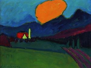 Murnau - Landscape Orange Cloud, c.1909 by Alexej Von Jawlensky