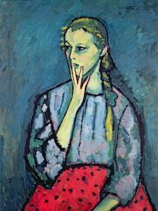 Portrait of a Young Girl by Alexej Von Jawlensky