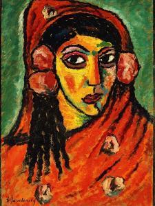 Spanish Girl with a Red Scarf; Spanierin Mit Rotem Schal, C.1912 by Alexej Von Jawlensky