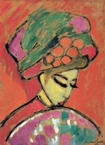 Young Girl with a Flowered Hat by Alexej Von Jawlensky