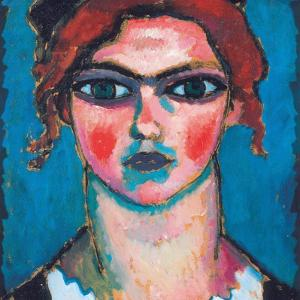 Young Woman with Green Eyes, C.1910 by Alexej Von Jawlensky