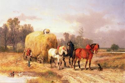 Carting Hay, 19th Century