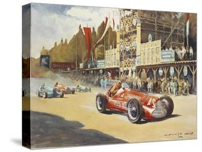 Alfa Romeo Car During Car Racing, Poster