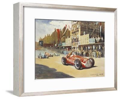 Alfa Romeo Car During Car Racing, Poster