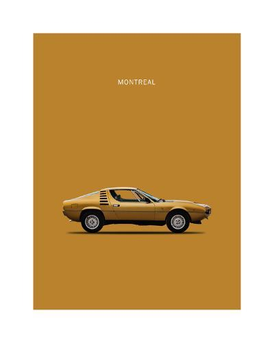 Alfa Romeo Montreal 1972-Mark Rogan-Giclee Print