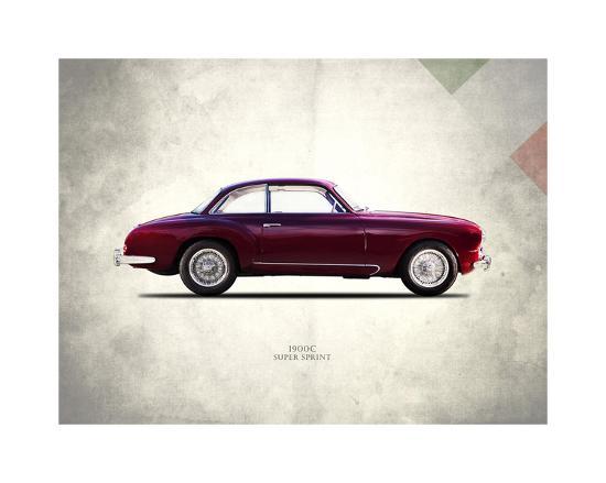 Alfa-Romeo Super-Sprint 1954-Mark Rogan-Giclee Print
