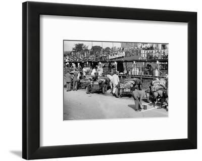Alfa Romeos in the pits at the RAC TT Race, Ards Circuit, Belfast, 1929-Bill Brunell-Framed Photographic Print