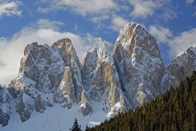Italy, South Tyrol, the Dolomites, Geislerspitzen, Geisler Gruoup