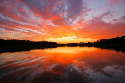 Lake, Evening Mood, Afterglow