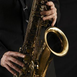 Male Hands Playing Saxophone by Alfonse Pagano
