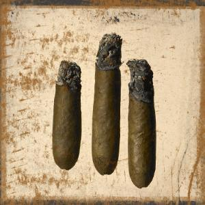 Three Cigars Lit with Ashes by Alfonse Pagano