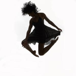 Woman Jumping in the Air Dancing by Alfonse Pagano