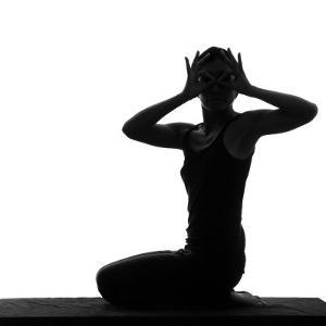 Woman Sitting and Masking Eyes by Alfonse Pagano