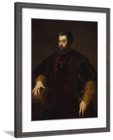 Alfonso d'Este, Duke of Ferrara, c.1600-Titian-Framed Giclee Print