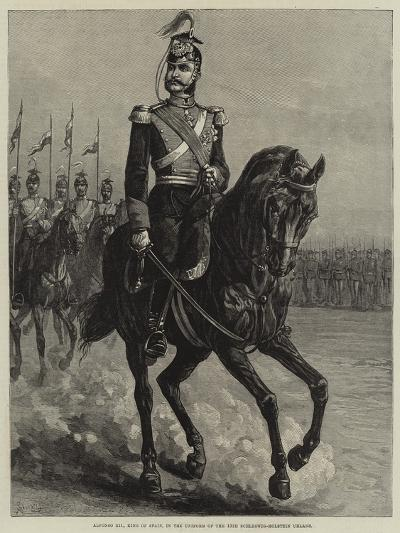 Alfonso Xii, King of Spain, in the Uniform of the 15th Schleswig-Holstein Uhlans--Giclee Print