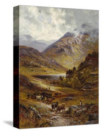 Longhorn Cattle in a Mountainous Landscape, 1892