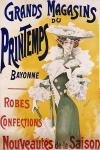 Grands Magasins Du Printemps Bayonne Fashion Poster by Alfred Choubrac