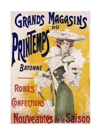 Grands Magasins Du Printemps Bayonne Fashion Poster