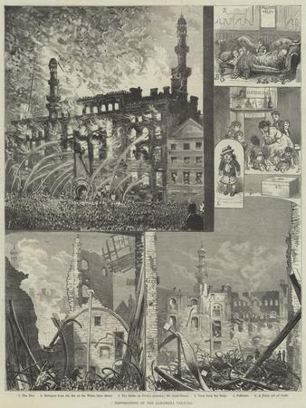 Destruction of the Alhambra Theatre