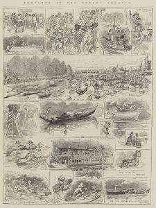Sketches at the Henley Regatta by Alfred Courbould