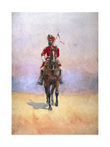 Governor's Bodyguard, Bombay, Musalman Rajput, Illustration for 'Armies of India' by Major G.F.… by Alfred Crowdy Lovett